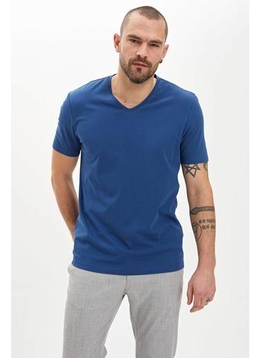 DeFacto Basic Slim Fit T-Shirt Lacivert